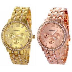 e91a7763919 Relogios Femininos Geneva Rose - Relógio Feminino no Mercado Livre ...