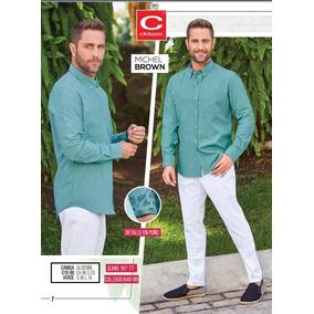 Camisa Verde Manga Larga P/hombre Cklass 019-88 Pv-19