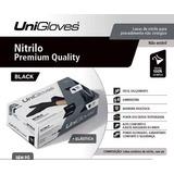 Luva Procedimento Nitrilica Preta Uso Médico Unigloves C 100 ec1c4c59aa