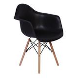 Cadeira Charles Eames Wood Daw Com Braços - Design