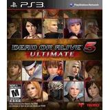 Juego Ps3 Dead Or Alive 5 Ultimate