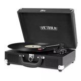 Tocadiscos Vintage Victrola Portatil Bluetooth Vsc-550bt Neg