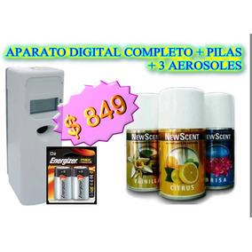 Combo Newscent Aparato Digital 3 Aerosoles + Pilas