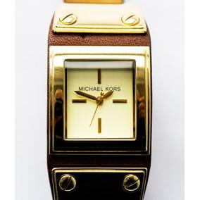 Relógio Michael Kors Pulseira De Couro Dupla. Feminino - Relógios De ... 7564c13373