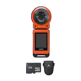 Cámara Digital Casio Exilim Fr10 - Naranja + 32gb Y Caja