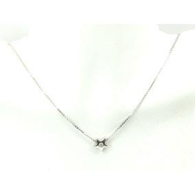 Colar Corrente Ouro Branco Pingente Diamantes - Joias e Bijuterias ... 35d2571843