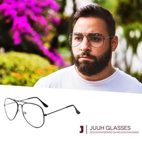 ce650ac2845c1 Armacao Oculos De Grau Masculino Aviador - Óculos no Mercado Livre ...