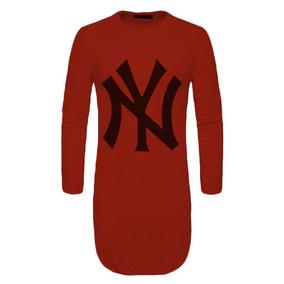 Kit 03 Camiseta Camisa Oversized Longline Ny Top 861f3945c7c