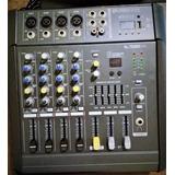 Mixer - Consola Amplificada Fx + Mp3 + Bluetooth-