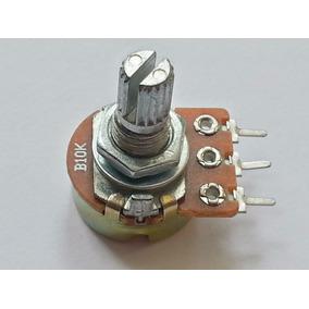Potenciômetro Linear De 10k B10k Eixo L20 Estriado