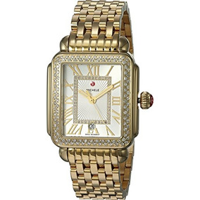 Michele Womens Deco Madison Watch Gold Gold One Size