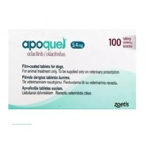 Caja Apoquel Dermatologico Zoetis 5.4mg 100 Tabs