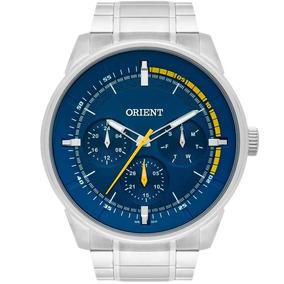 Relógio Orient Masculino Prata Azul Original Mbssm079d1sx