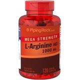 L Arginina 120 Cápsula Hcl 1000mg+massa Muscular