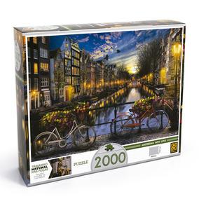 Quebra-cabeça - 2000 Peças - Verão Em Amsterdã - Grow