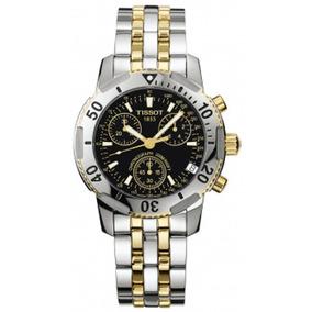 Relógio Tissot Preto E Dourado Prs200 Aço T17.2.486.55