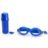 f5ec0f7c4 Kit Óculos Para Natação Ax Esportes Adulto Azul - Oa419