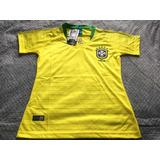fddb8b387d Camisa Brasil Feminina Babylook Oficial Abir Sports