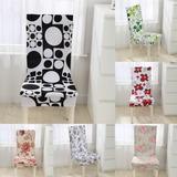 7 Patrón Floral Impresión Silla Covers Casa Comedor Multifun