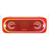 Sony Parlante Bluetooth Hi-res Con Luces Extrabass Rojo Srs-