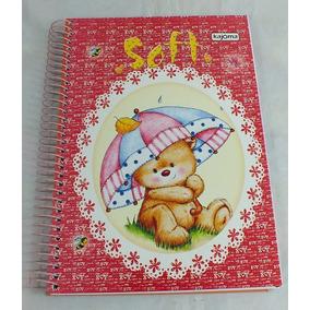 Kit 5 Cadernos Espiral Grande 1 Matéria Capa Dura Feminino