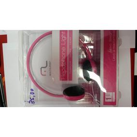 Fone De Ouvido Multilaser Em Arco Rosa Sem Microfone
