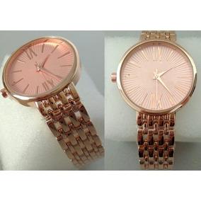 57376cfa92b Relogio Quartz Ponteiros Rosa De Luxo Feminino - Relógios De Pulso ...