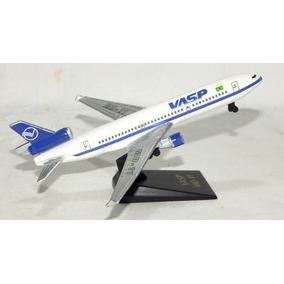 Antiga Miniatura Avião Vasp Md - 11 - Metal 12,5 Cm