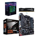 Kit Intel Core I5 8600k Sem Cooler Aorus Z370m 8gb Fury