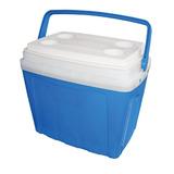 Caixa Termica 34 Litros Cooler Azul Com Alça E Porta Copos