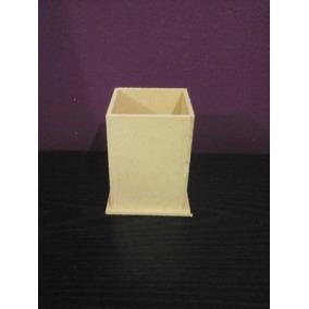 Portalapices Fibrofácil De 6x6x9 Listos Para Pintar