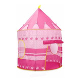 Carpa Castillo Infantil Rosa Camping Jardin Patio Pelotero