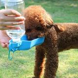 Bebedero Portatil Viajero Para Mascotas Perro Gato De 250ml