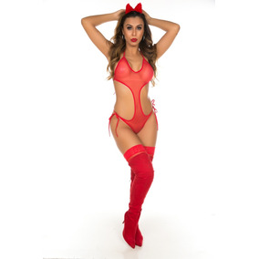 Mini Body Diabinha Sensual Erotica Pimenta Sexy Fantasias