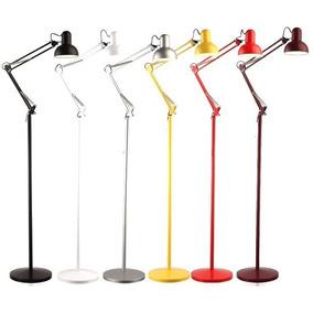Luminária Chão Articulada Metal Lustre Coluna Abajur 1,90m!