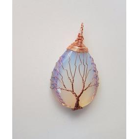 Pingente Árvore Da Vida Pedra Da Lua Símbolo Da Vida
