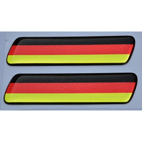 Par Emblema Adesivo Alemanha Para Coluna Da Porta Volkswagen