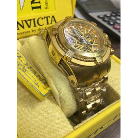 6dc4e437bf3 Invicta Bolt Zeus Esqueleto Dourado - Relógio Invicta Masculino con ...
