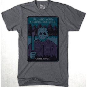 Friday 13th Jason Game Over Nes Pixel P/hombre J Rott Wear