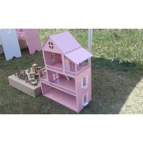 Casinha De Boneca Poly E Barbie Pockt Arte Criança Feliz
