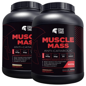 Kit 2x Muscle Mass Hipercalórico Espartanos - Total 6kg