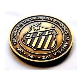 Medalha Comemorativa Tri Da Libertadores Do Santos Fc