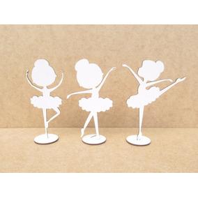 Bailarinas Em Mdf 1 Lado Branco 15cm Lembrancinhas 15pçs