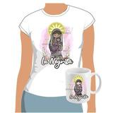 Camiseta Con Virgen De Los Ángeles