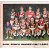 c45563ef80 Joinville - Octacampeão Catarinense 1985 - Pôster Da Placar