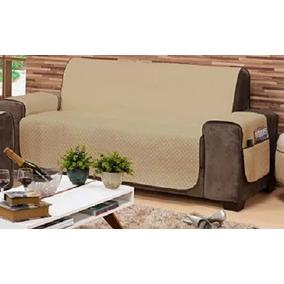 Capa Protetor De Sofa 3 Lugares Impermeável Medida 1,60 M