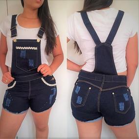 Jardineira Saia Jeans Rasgado Macacão Jardineira@ Aeiou@