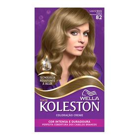 Coloração Creme Koleston Kit Louro Mate Claro 82
