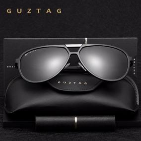 Óculos De Sol Unissex Polarizado Aviador Uv400 Guztag Preto 9c32398ca8