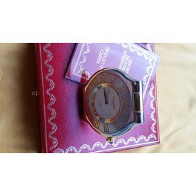 Relogio Cartier 1847,aco E Ouro,despertador,poossb. P/ Pulso